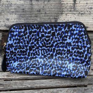 Estee Lauder Blue and Black Makeup Bag